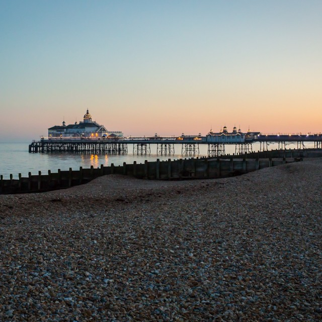 """Eastbourne pier"" stock image"