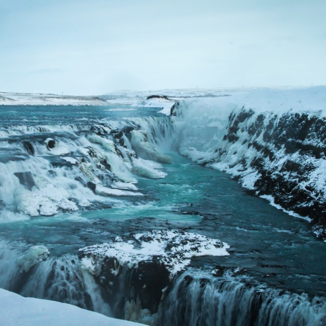 """Gullfoss waterfalls"" stock image"