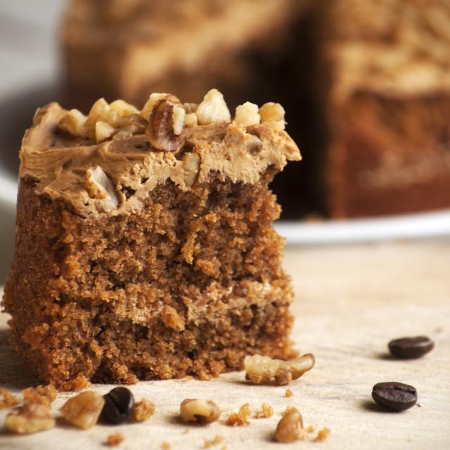 """Coffee & Walnut Cake"" stock image"