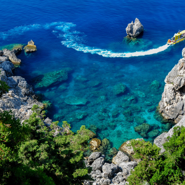 """Corfu coast"" stock image"