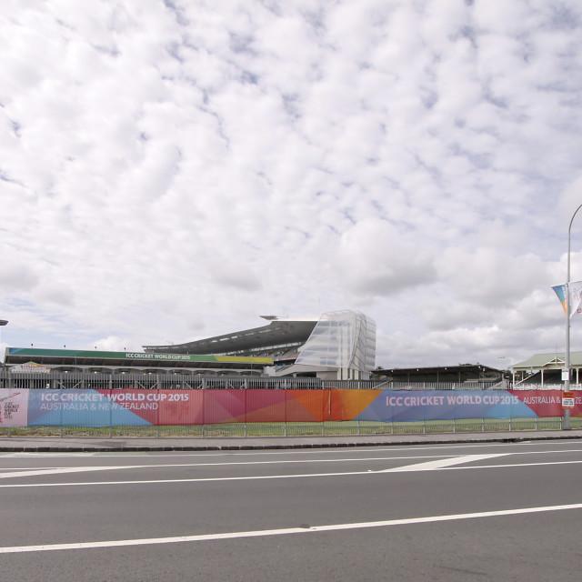 """ICC Cricket World Cup 2015 Venue Eden Park Stadium"" stock image"