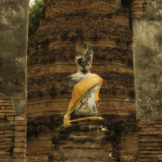 """""""ruin buddha statue of Ayutthaya"""" stock image"""