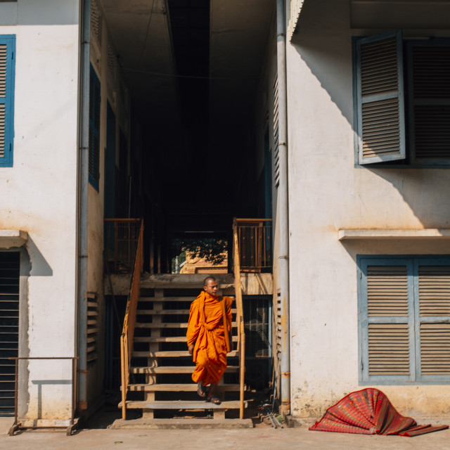 """A monk"" stock image"