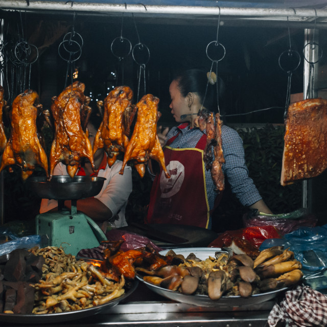 """Street food in Cambodia"" stock image"