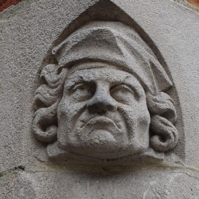 """""""Corner stone relief"""" stock image"""