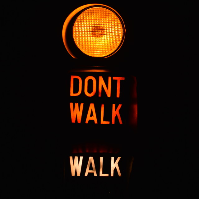 """Dont walk"" stock image"