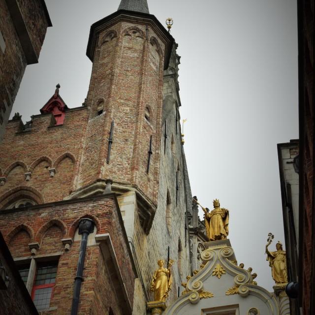 """""""Bruges skyline"""" stock image"""