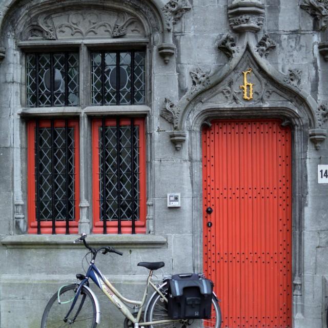 """""""Bruges Burg square"""" stock image"""