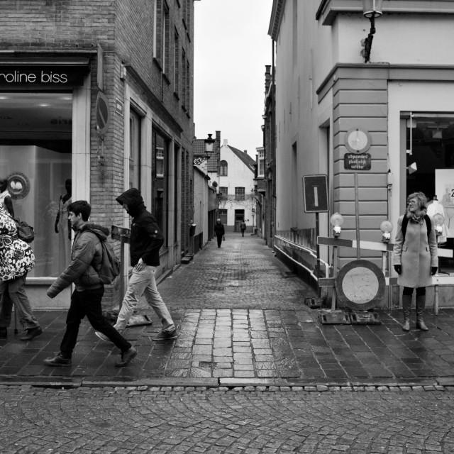 """Street scene"" stock image"