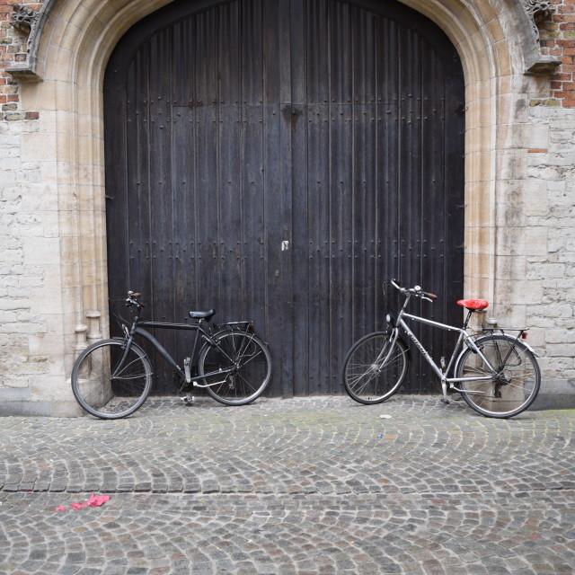 """""""Doorway in Bruges"""" stock image"""