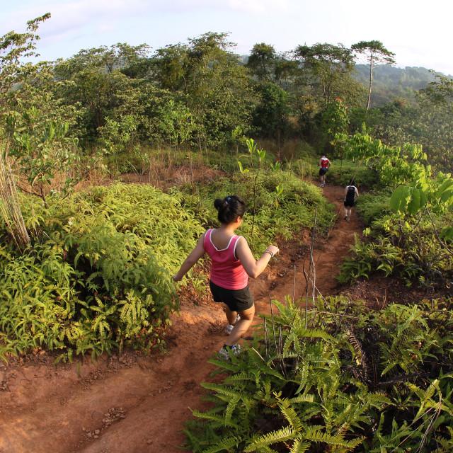 """""""Marathon trail runners"""" stock image"""