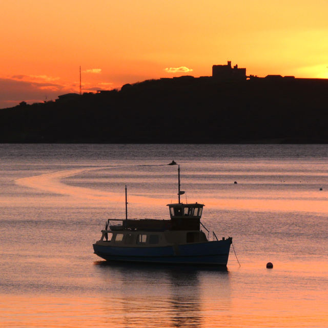 """""""Sunset at St Mawes"""" stock image"""