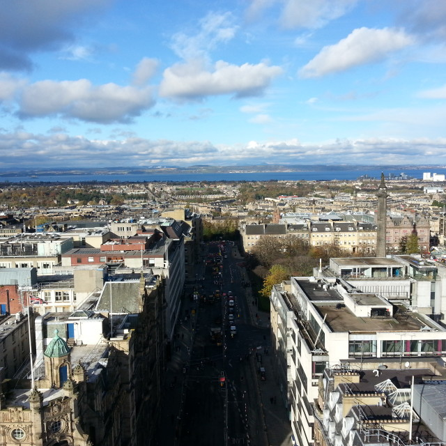 """Edinburgh From The Scott Monument"" stock image"