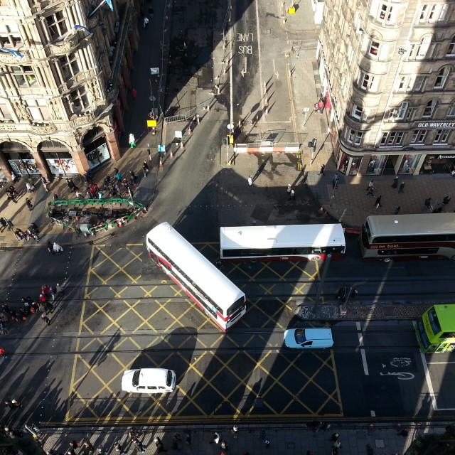 """Edinburgh Traffic"" stock image"