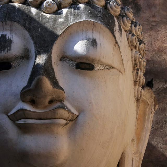 """Buddha statue at wat srichum (head part)"" stock image"