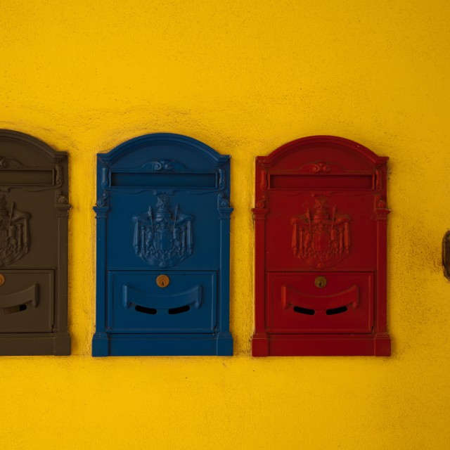 """""""Colorful mailboxes"""" stock image"""