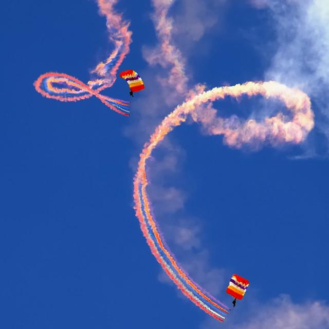 """Parachute Show"" stock image"
