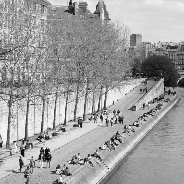 """Springtime in Paris"" stock image"