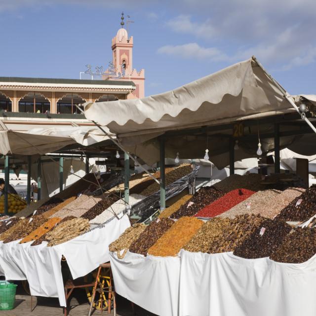 """Marrakech Fruit Stalls"" stock image"
