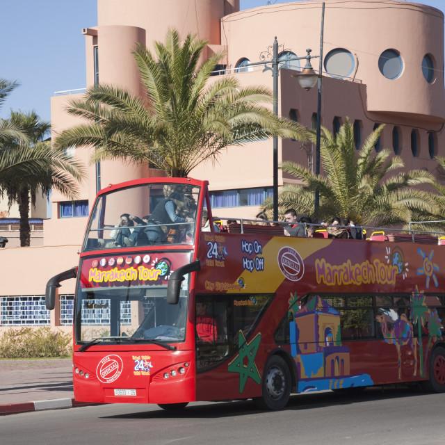 """Marrakech Tourist Bus"" stock image"