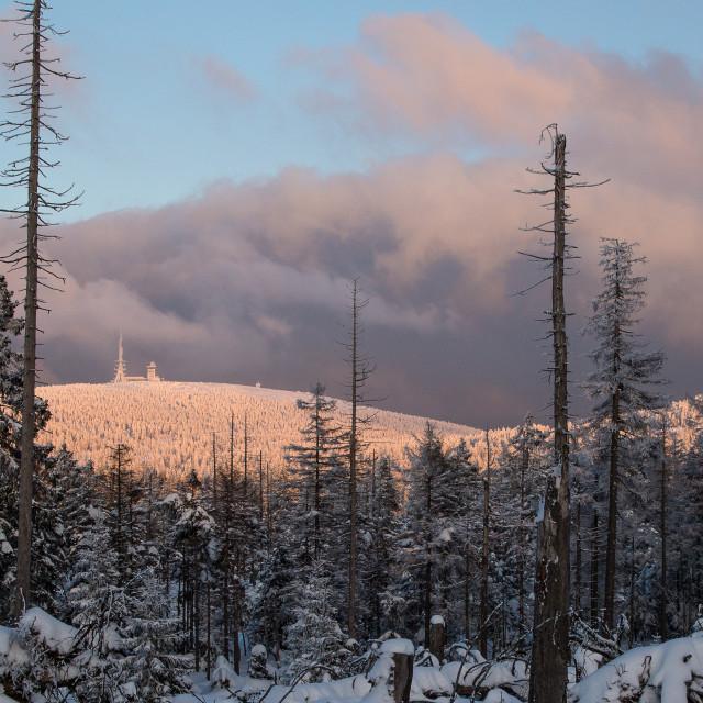 """Brocken Mountain"" stock image"