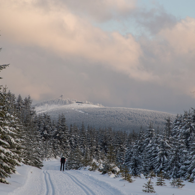 """Brocken Mountain view in Wintertime"" stock image"