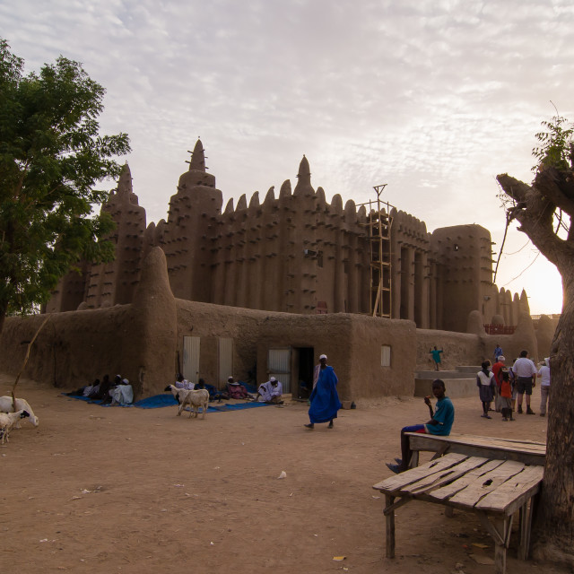 """The great mosque of Djenne"" stock image"