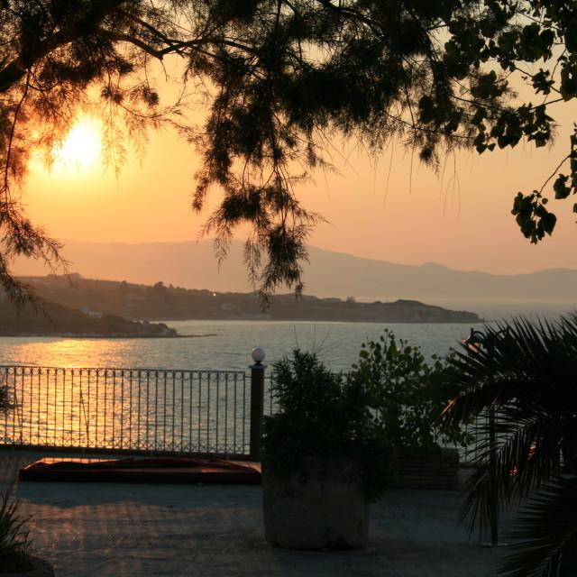 """Sunset in Zante"" stock image"