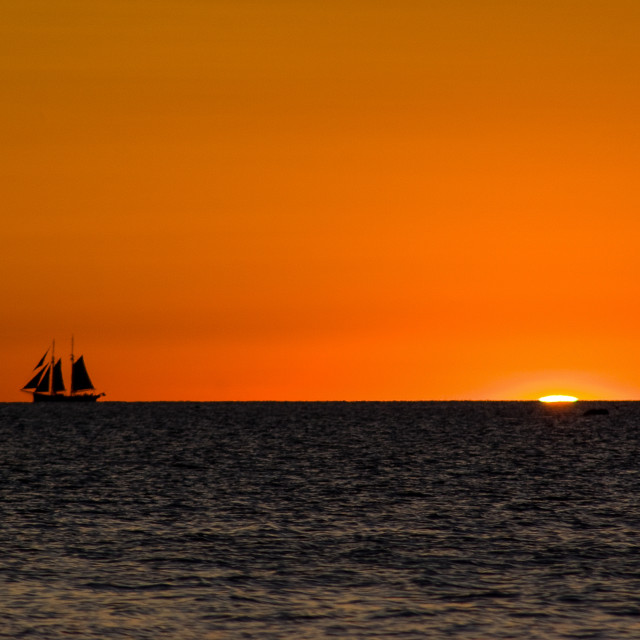 """Sunset Sail"" stock image"