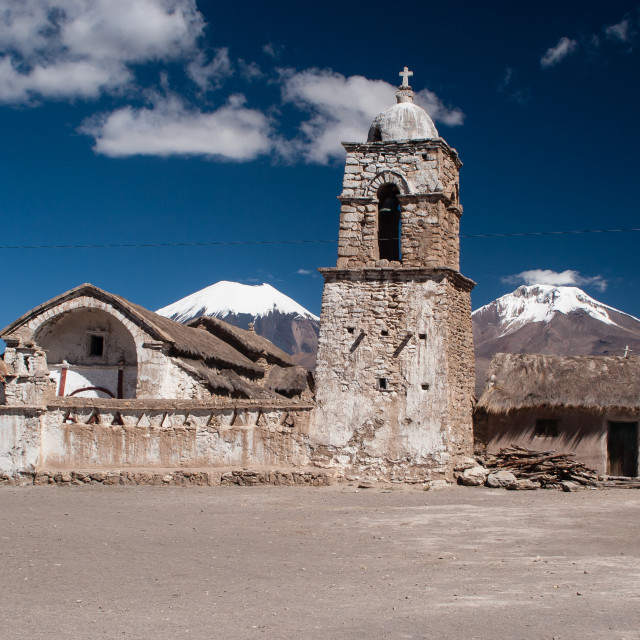 """Sajama village"" stock image"