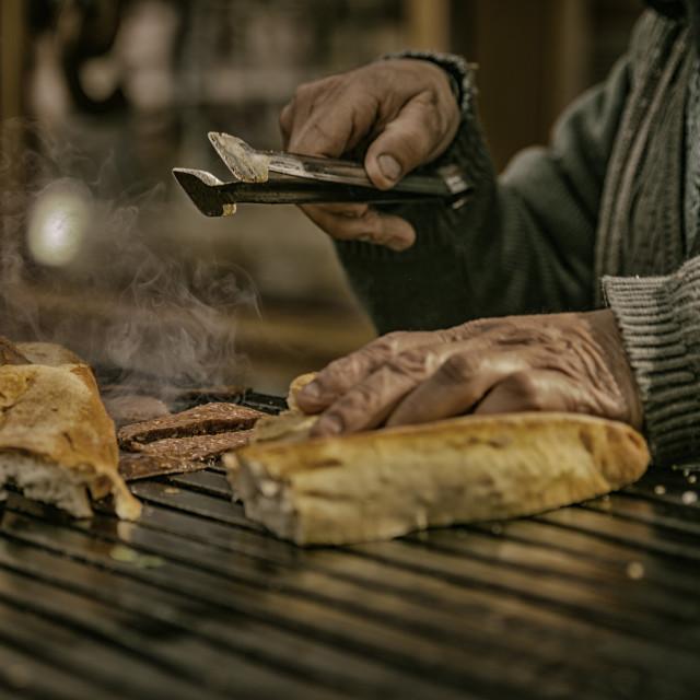 """street food seller"" stock image"