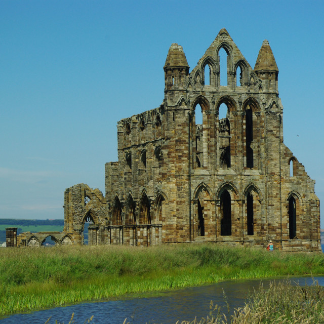 """""""Whitby Abbey"""" stock image"""