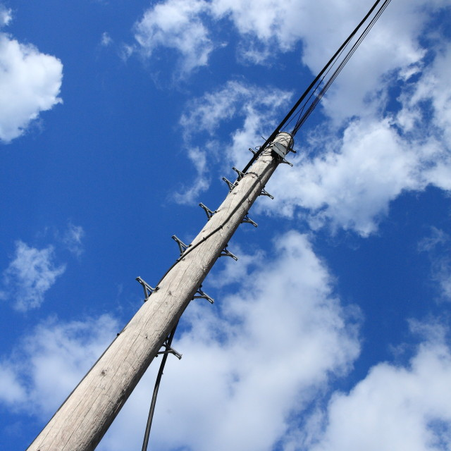"""Telegraph pole"" stock image"
