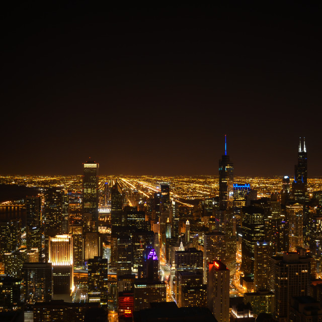 """Chicago Nights"" stock image"