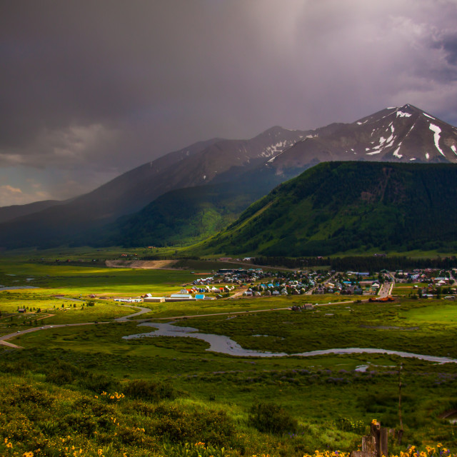 """""""Rain in the Valley"""" stock image"""
