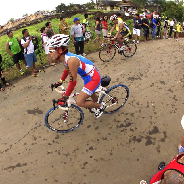 """Ironman Philippines bicycle race"" stock image"