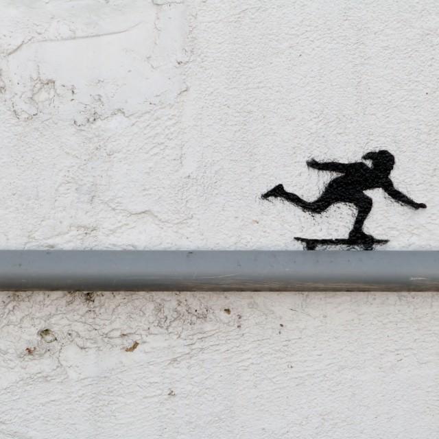 """Keep on Skating"" stock image"