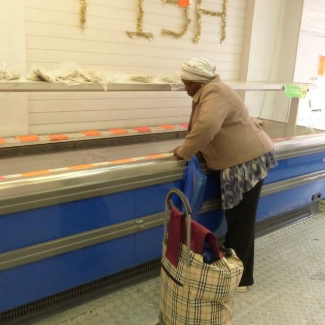 """""""Fishmonger in East London"""" stock image"""
