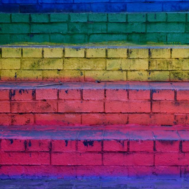 """Rainbow Steps"" stock image"
