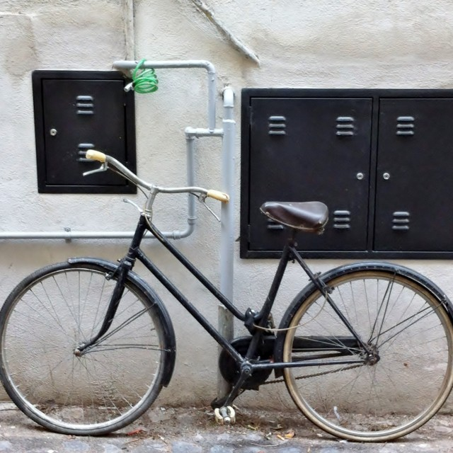 """""""Bicycle in Rome"""" stock image"""