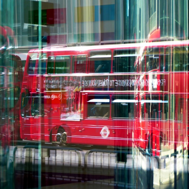 """London Double Decker Bus"" stock image"