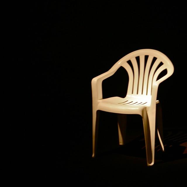 """Plastic Chair"" stock image"