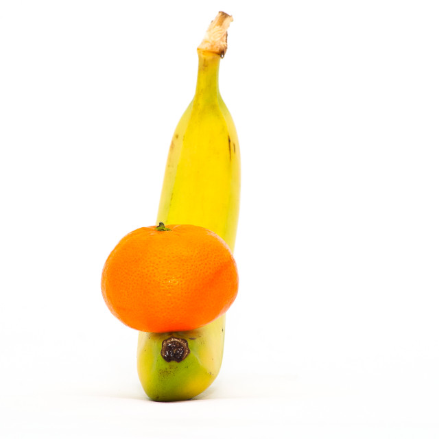 """Orange and Banana"" stock image"