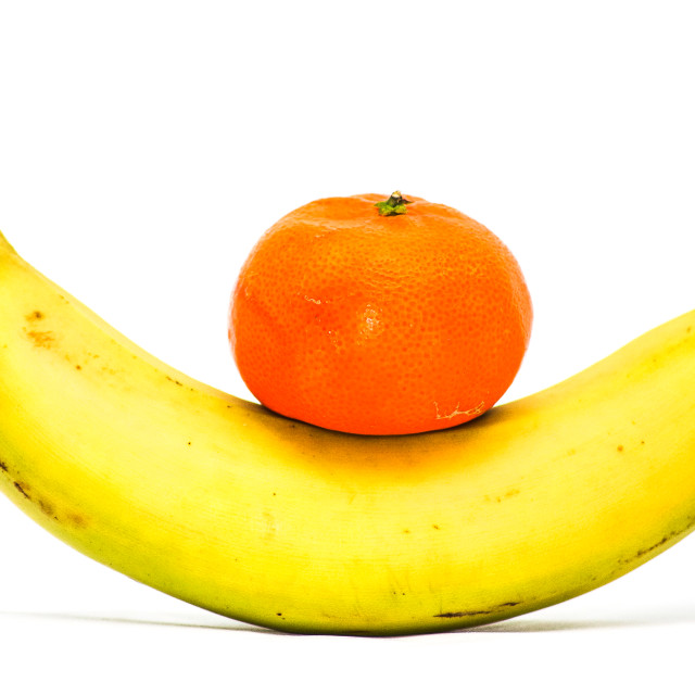 """Banana and Orange Circus"" stock image"