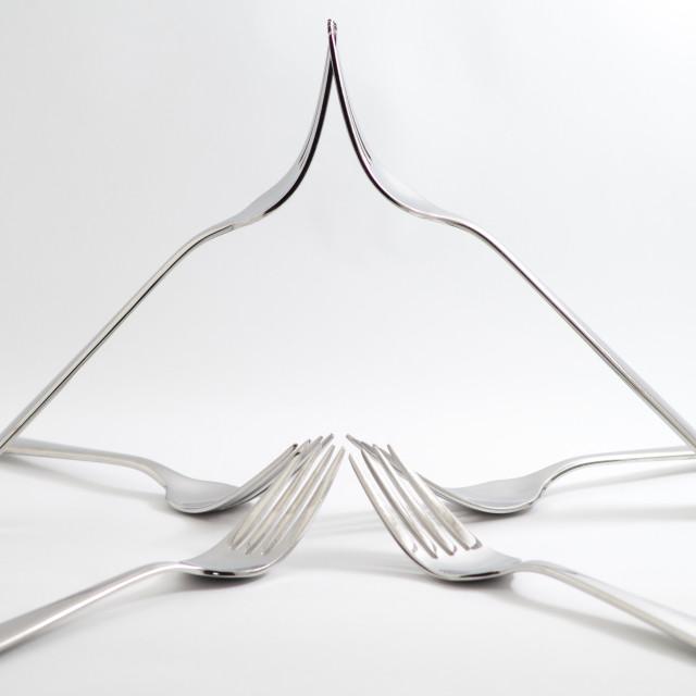 """Balancing Forks"" stock image"