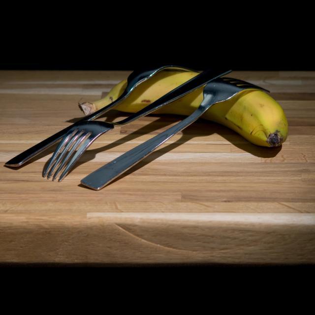 """Spotlit Banana"" stock image"