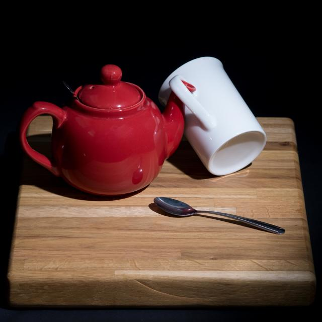 """Tea Pot and Mug"" stock image"