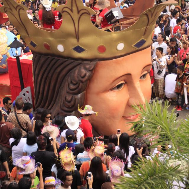 """Sinulog Cebu Parade Filipino Catholic Devotees"" stock image"