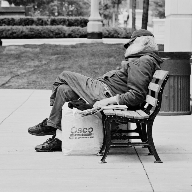 """""""Old Man Resting"""" stock image"""