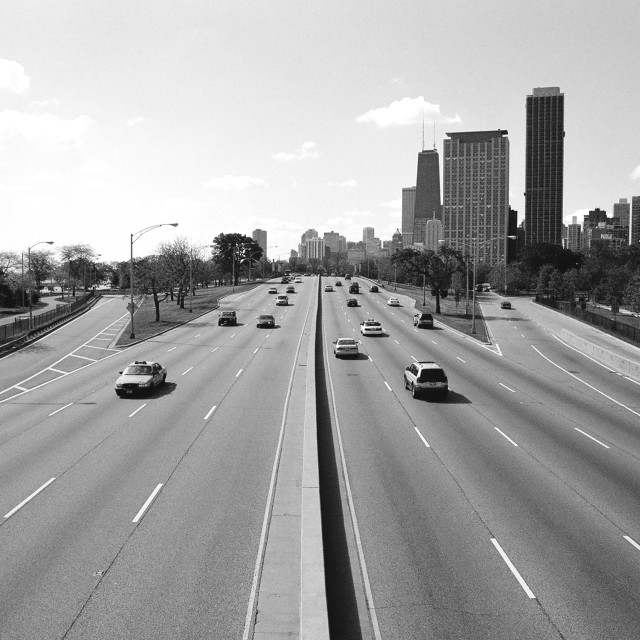 """Freeway to Chicago"" stock image"